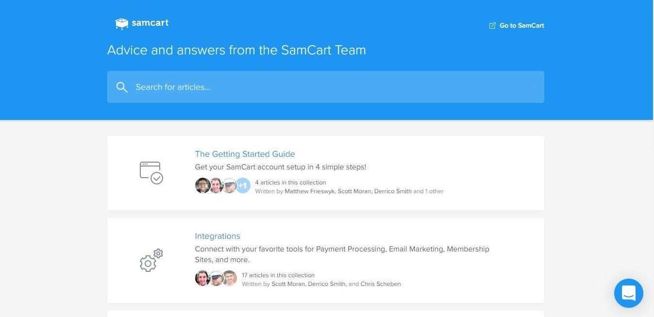 samcart customer support