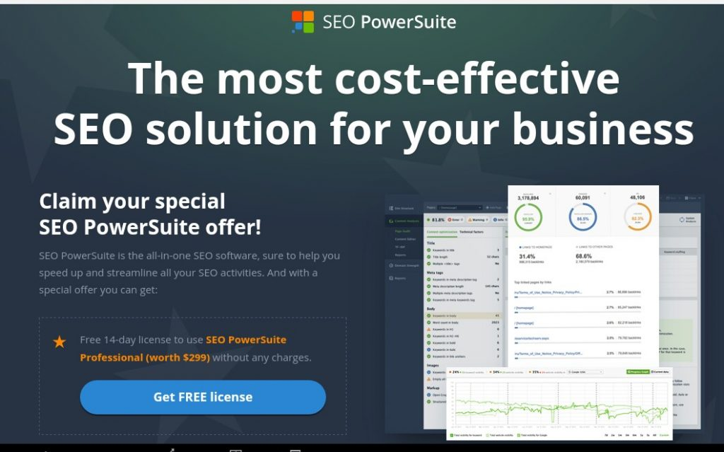 SEO PowerSuite Offer