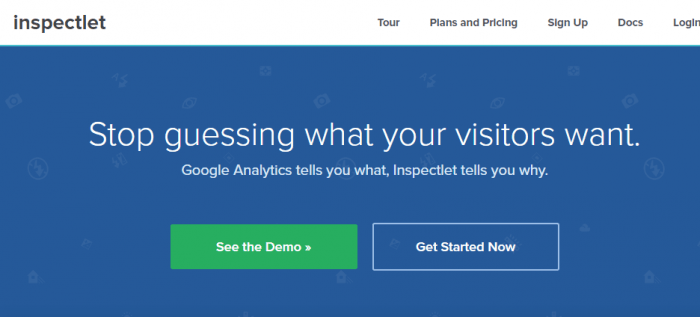 Inspectlet home page