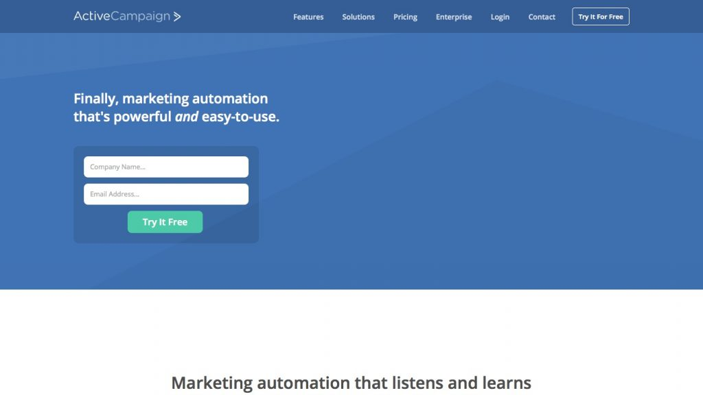 ActiveCampaign offers marketing automation