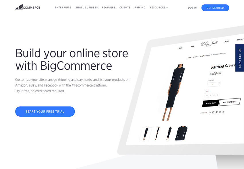 BigCommerce offers a free trial