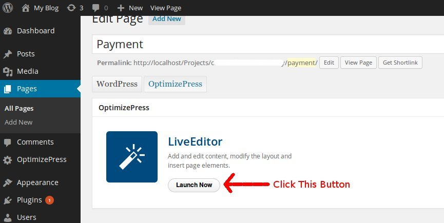 optimizepress live editor