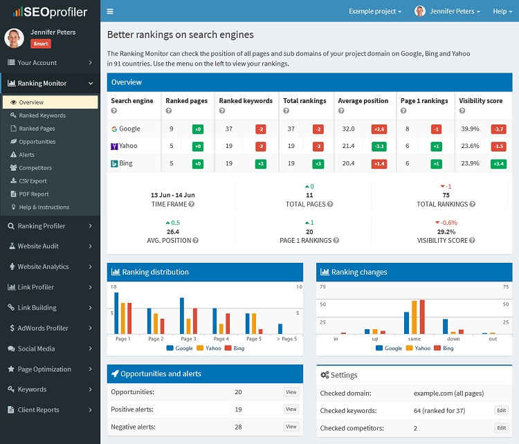 seoprofiler overview