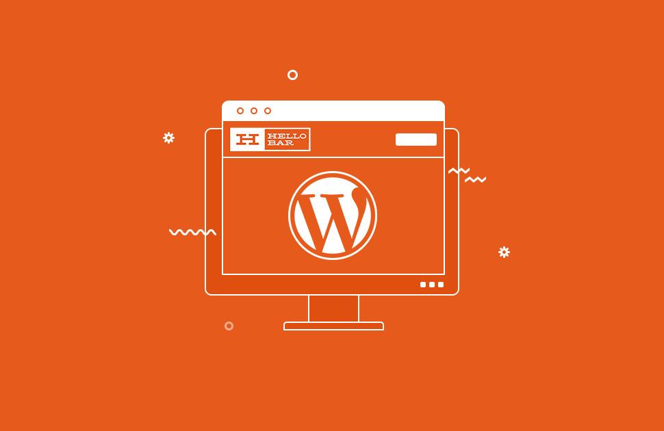 WordPress and Hellobar logo