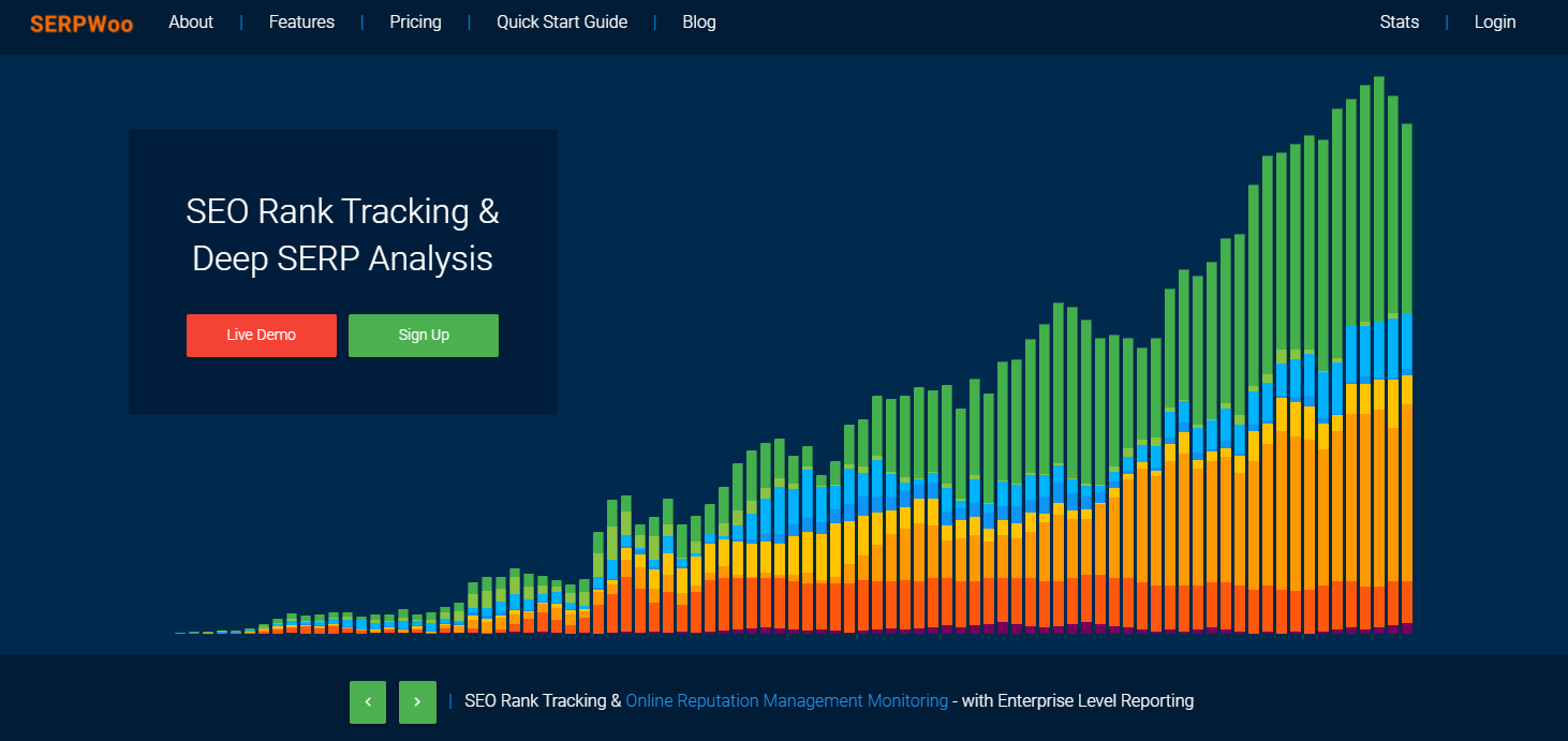 SEO Rank Tracking and Deep SERP Analytis