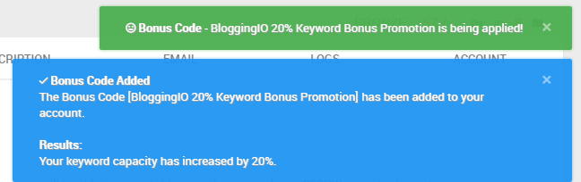 Bonus Code for SERPWoo plans higher than a bronze