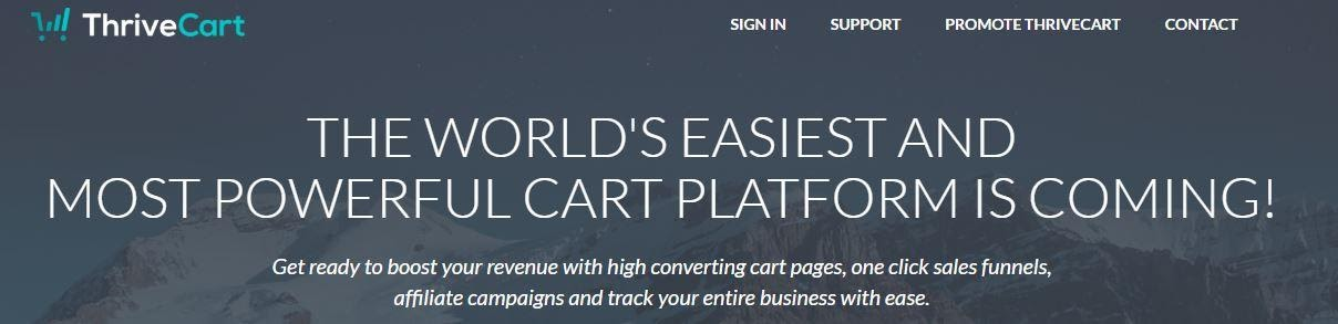 thrivecart home page