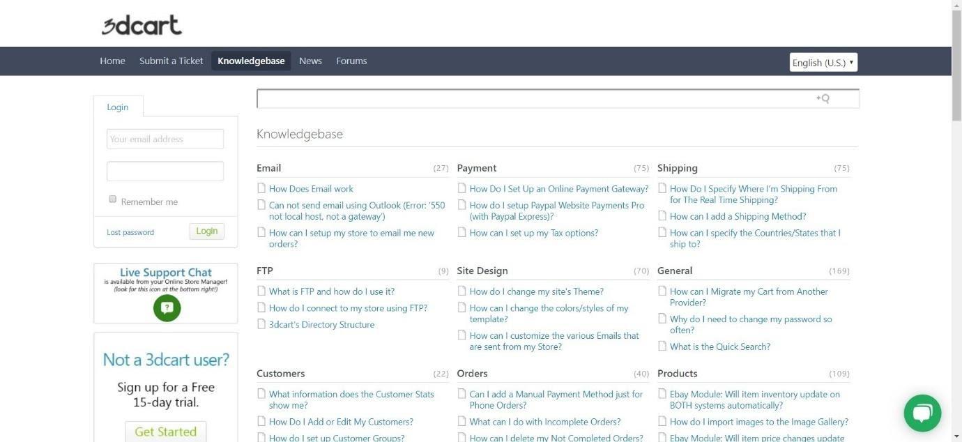 3dcart knowledgebase