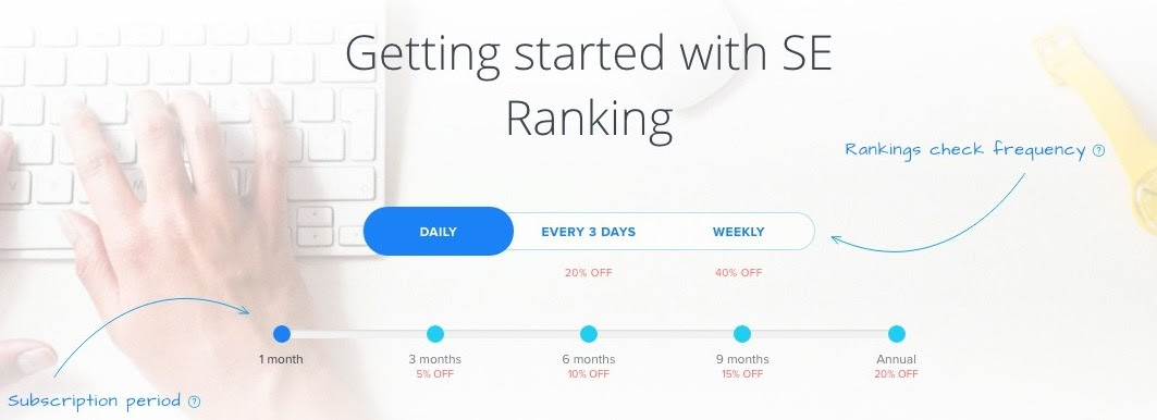 SE Ranking Subscription Period