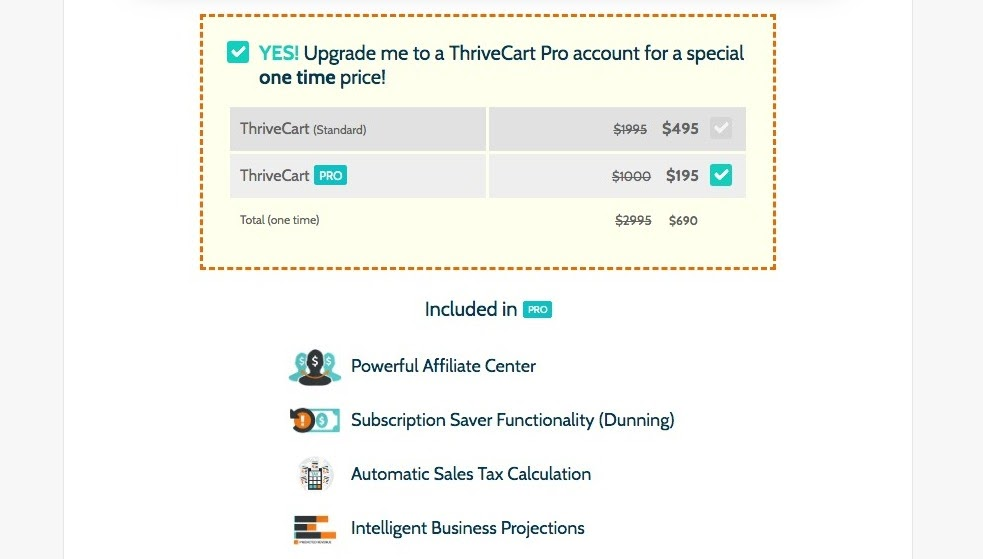 ThriveCart Pro Account upgrade