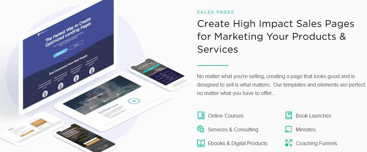 create sales pages with optimizepress and samcart