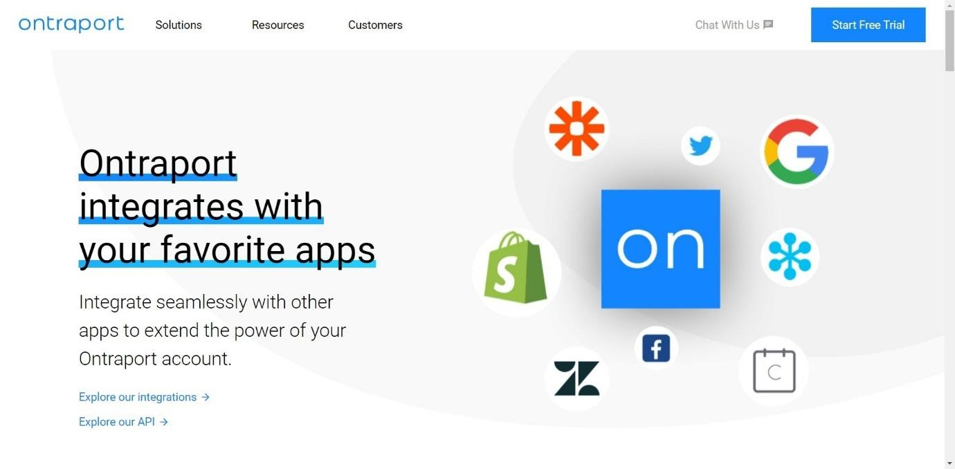 ontraport homepage