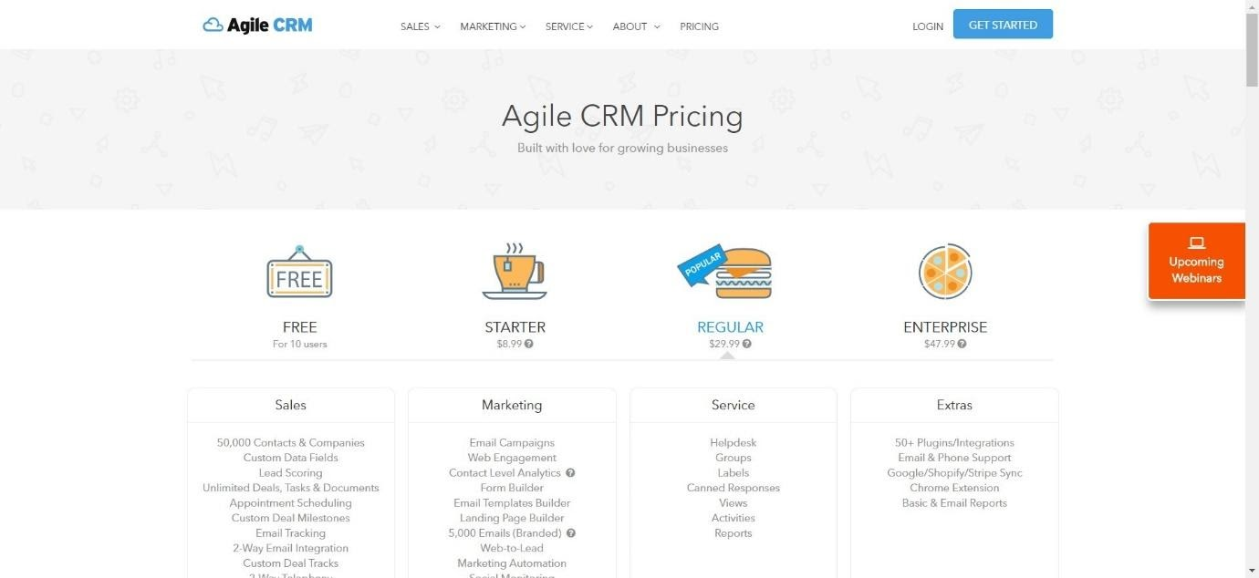 Agile CRM Pricing