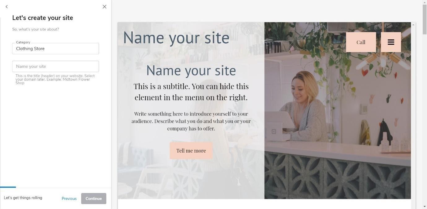 constant contact website builders
