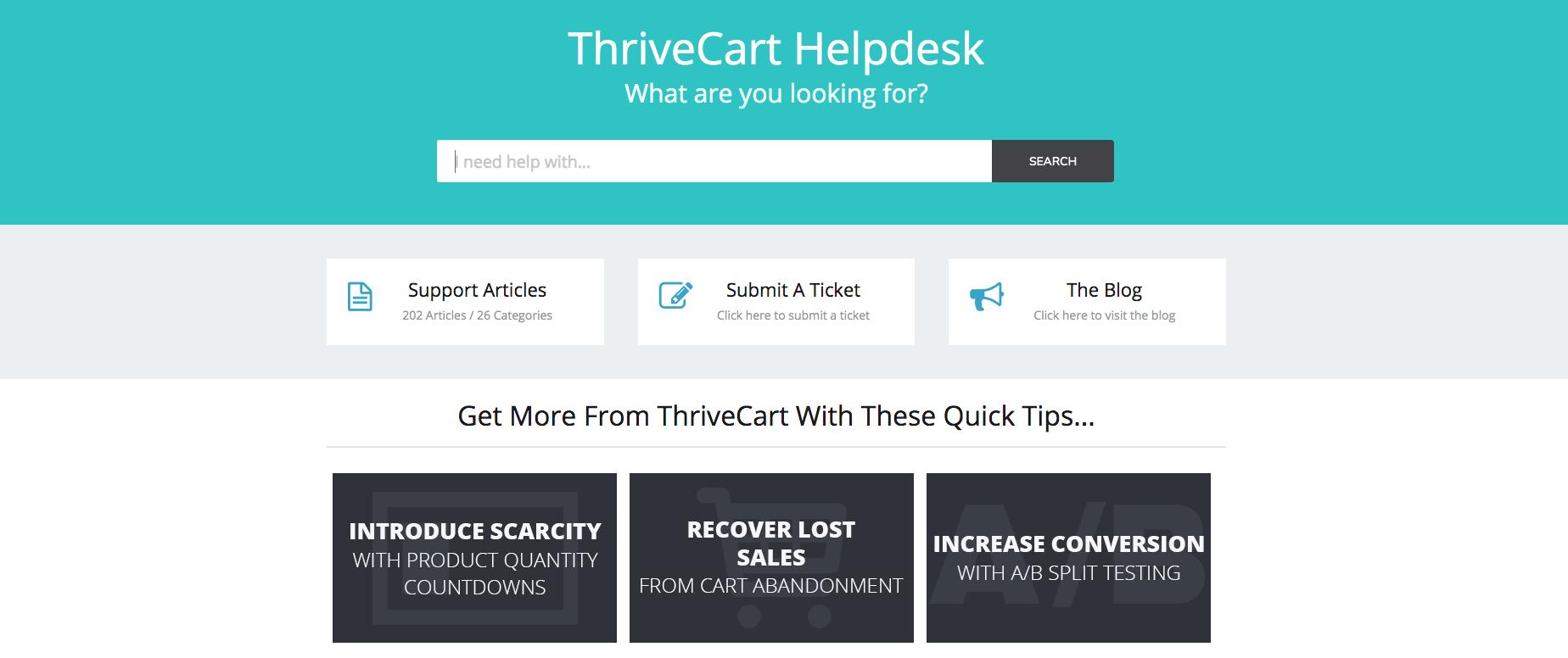 ThriveCart helpdesk