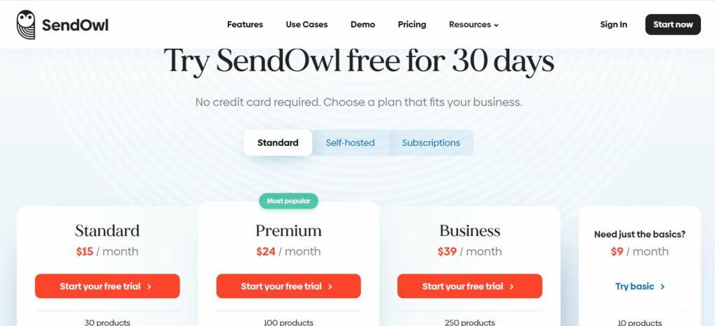 SendOwl's Pricing